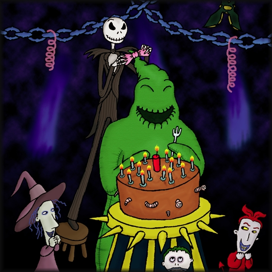 nightmare before christmas happy birthday Pumpkin Patch : : Fan Stuff : : Fan Art : : Happy Birthday, Oogie! nightmare before christmas happy birthday